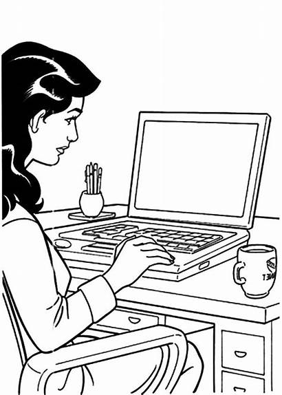Coloring Pages Business Working Meeting Office Team