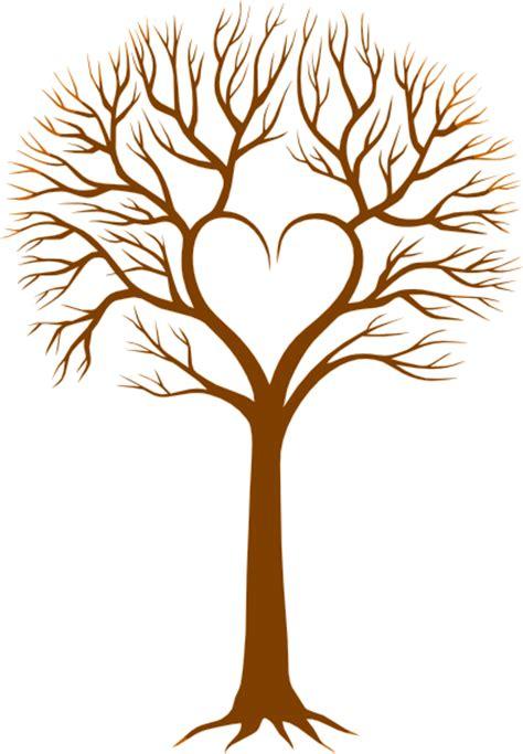 brown heart tree clip art  clkercom vector clip art