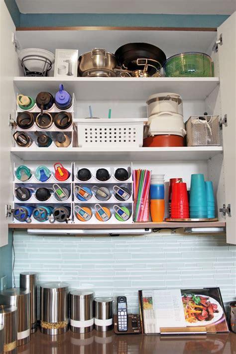 water bottle storage kitchen cabinet storage solutions