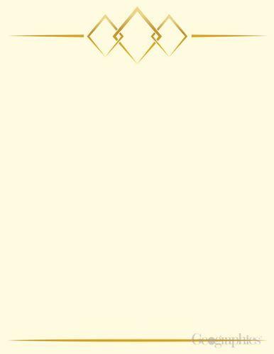 diamond monogram letterhead gold foil geographics