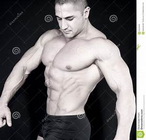 Athletic Attractive Male Body Builder Stock Image