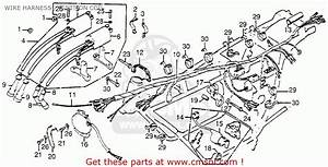 Honda Cb750 750 Four 1976 Cb750k6 Usa Wire Harness