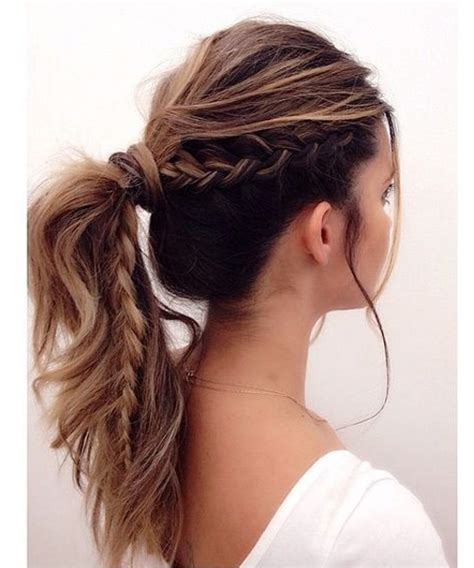 Braided Ponytail Hairstyles For by Occasional Half Braided Ponytail Hairstyles For