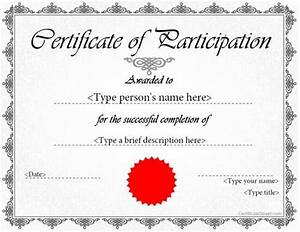 Certificate of participation template ppt best template idea for Certificate of participation template ppt