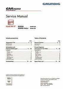 Seat Alana Radio Stereo Wiring Diagrams Pdf  1 15 Mb