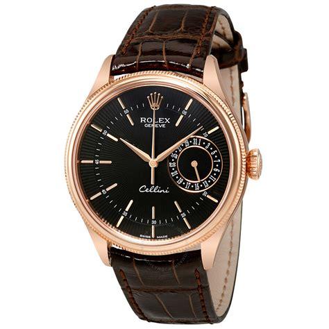 Rolex Cellini Black Dial 18K Rose Gold Automatic Men's ...