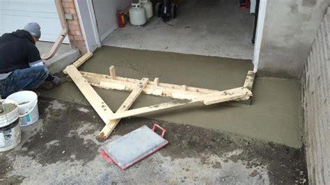 garage entrance drainage cam construction project