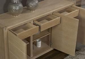 buffet 3 portes mathis en chene de style contemporain With meubles chene massif contemporain