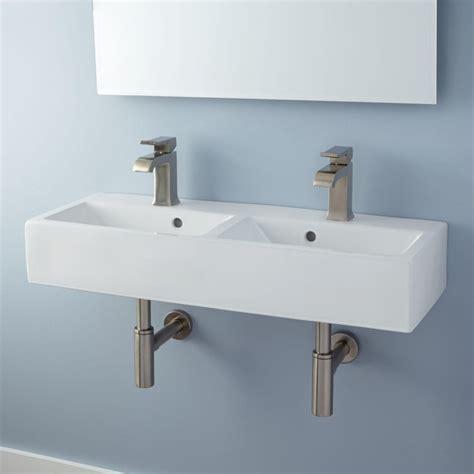 small wall mount bathroom sink rectangular small wall mounted bathroom sink with double