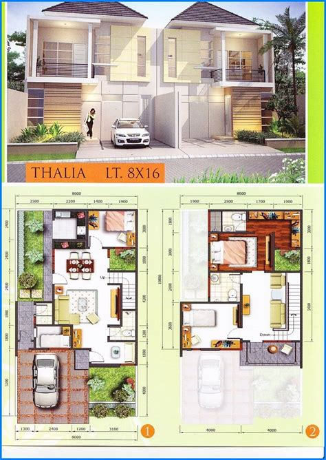 denah rumah minimalis  lantai modern type