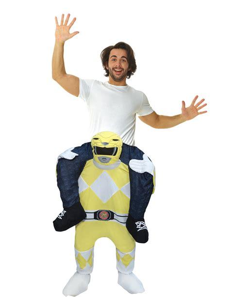 power rangers geel morphsuits kostuum volwassenen kostuumsen goedkope carnavalskleding vegaoo