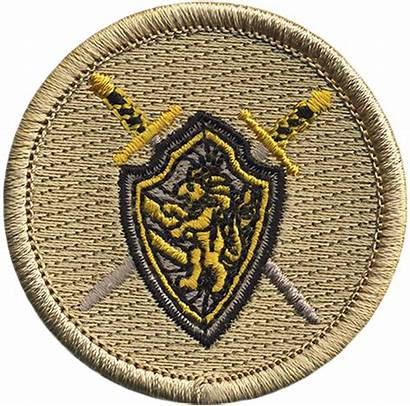 Patrol Patch Shield Sword Scout Official Knight
