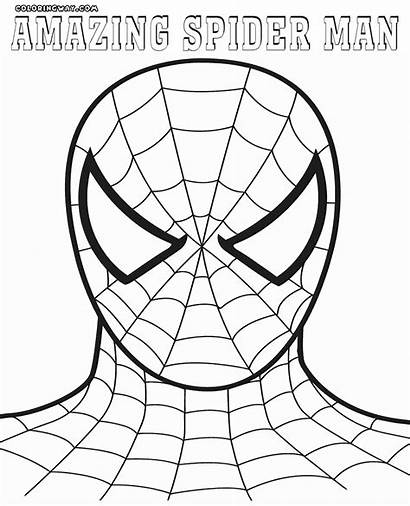 Spider Coloring Pages Amazing Spiderman Face Drawing