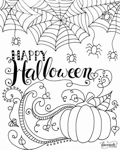 Halloween Coloring Pages Happy Adults Adult Thepinningmama