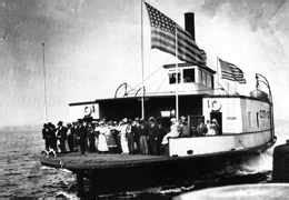 ferry service begins  seattle  west seattle
