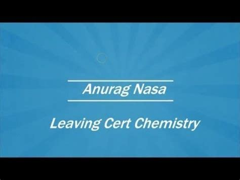 organic chemistry part  leaving cert chemistry youtube