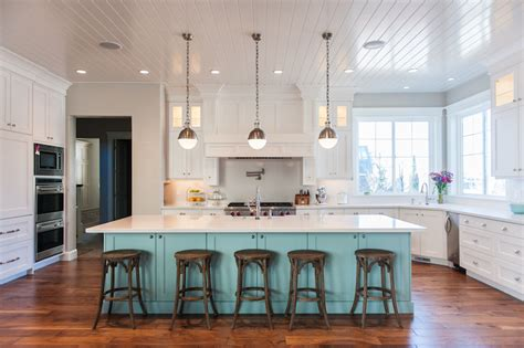 blue kitchen island contemporary kitchen benjamin moore wedgewood gray mountain cabinetry