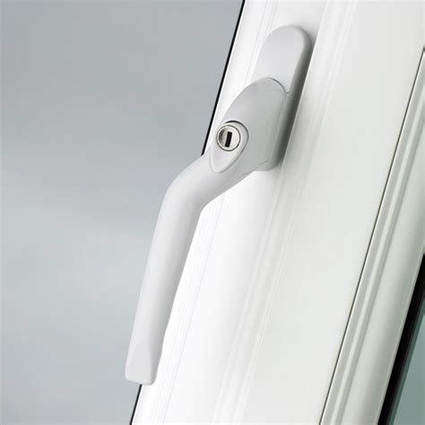 pro linea window espag handle left cranked mm locking white