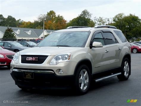 gold mist metallic  gmc acadia slt awd exterior photo