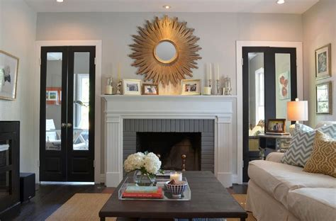 sunburst mirror fireplace fireplace paint colors for living room living room colors