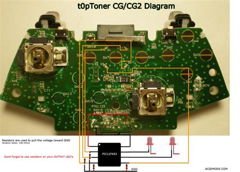 xbox 360 wired controller circuit board diagram 47