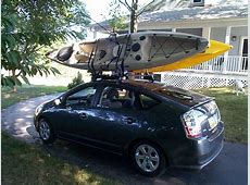 show your toyota prius car topping a kayak Kayaking and