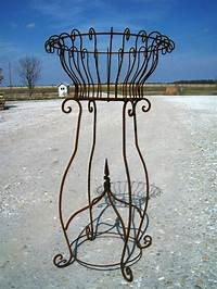 """wrought iron plant stands 40"""" Rustic Wrought Iron w/ Finial Plant Stand Metal ..."""