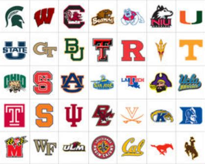 College Logos Every Power 5 College Football Program S Primary Logo