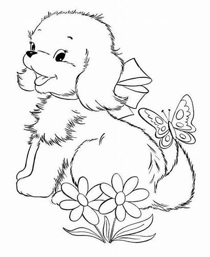 Coloring Pages Puppies Puppy Printable Scribblefun Frooti