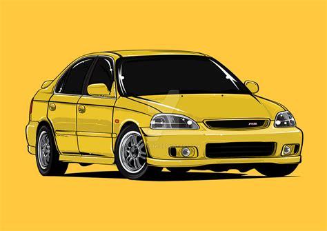 Honda Civic Ek Sedan By Bayuhariw On Deviantart