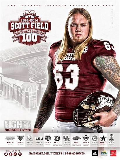 State Mississippi Posters Poster Schedule Football Msu
