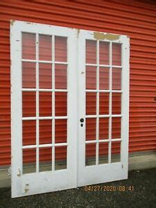 interior french doors  panes glass  ft    ship
