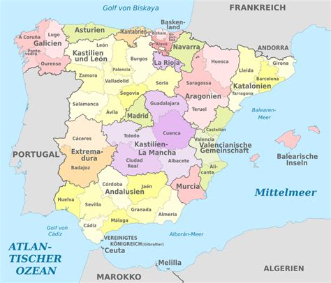 File:Spain, administrative divisions (regions+provinces ...