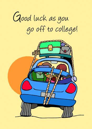 college good luck  good luck ecards