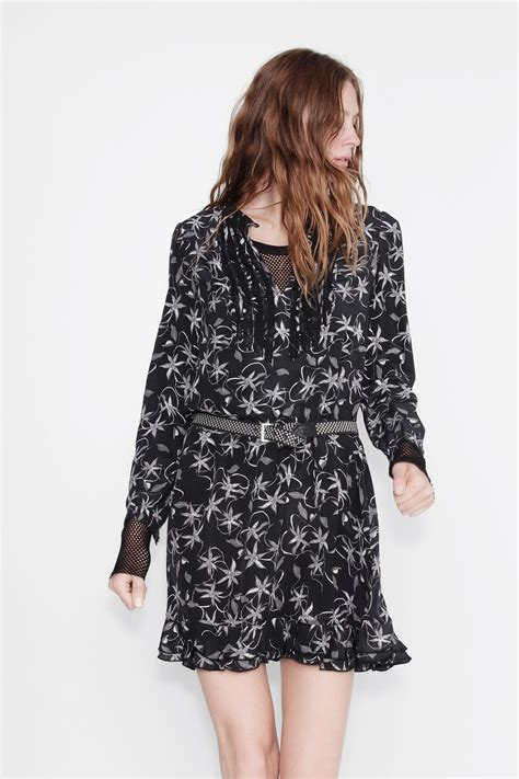 zadig voltaire remus print robe printee carbon dress
