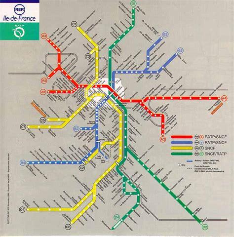 Carte Rer Parisien by Plan Du R 233 Seau Rer Ile De