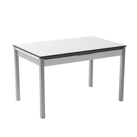 table cuisine avec tiroir table de cuisine en mélaminé blanc extensible avec