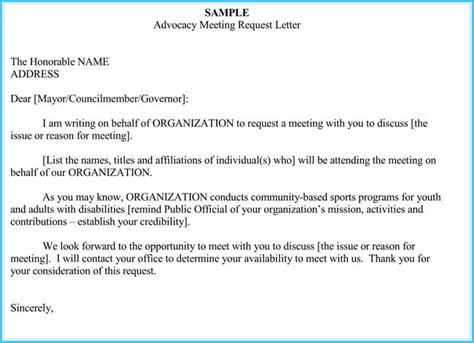 meeting appointment letter templates  samples