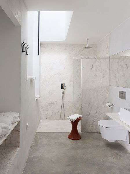 foto bano suelo  paredes microcemento de maribel