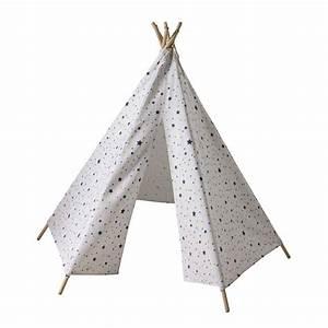 tipi enfant motifs triangles et etoiles h 145 cm tipi With salle de jeux maison 9 tipi enfant motifs triangles et etoiles h 145 cm