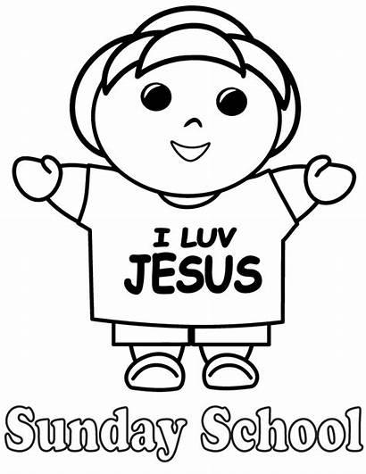 Coloring Sunday Pages Jesus Printable Bible Preschool
