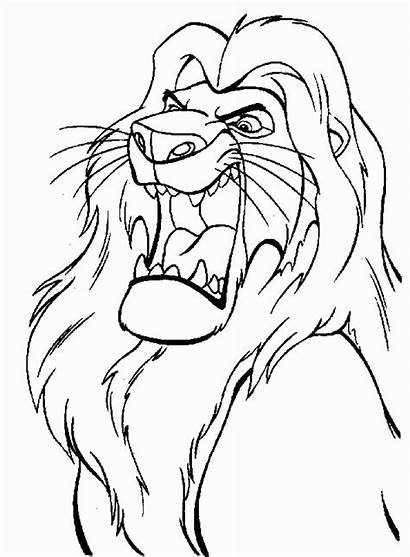 Lion Coloring Pages King Disney Cartoon Roaring