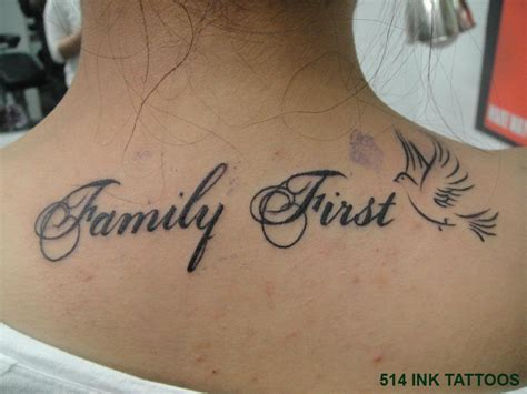 Tattoo Phrases Famille  Modèles Et Exemples