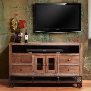 International Furniture Direct Urban Gold 62quot Solid Wood