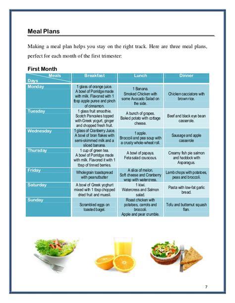 diet plan   month pregnancy diet plan
