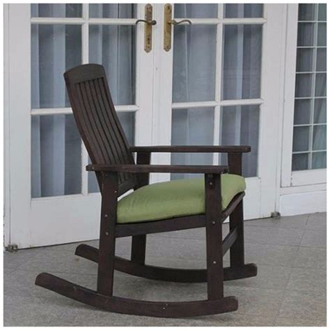 rocking chair wood outdoor porch rocker with cushion patio