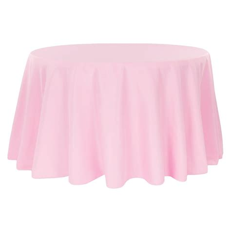 """Economy Polyester Tablecloth 132"""" Round Pink CV Linens"""