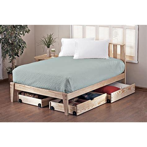 Pine Rock Platform Queen Bed Frame  113114, Bedroom Sets