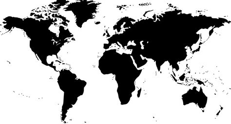 world map black and white world map 183 free vector graphic on pixabay