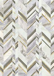 Chevron Pattern Marble Tile